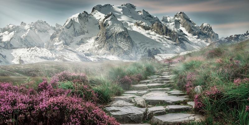 suasana pergunungan yang mendamaikan