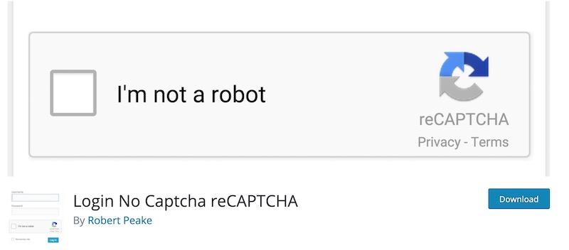 login no captcha recaptcha plugin