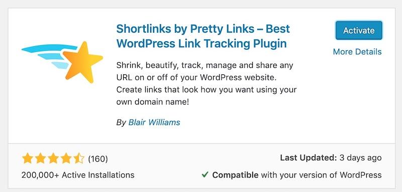 plugin pretty links yang memudahkan