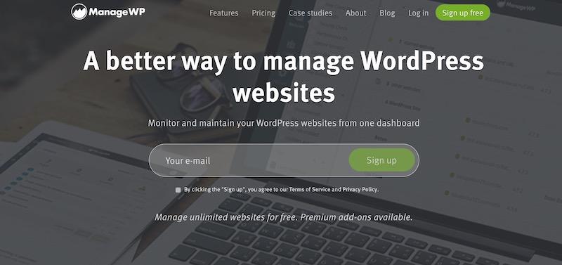 pengurusan pukal laman WordPress menggunakan managewp.com